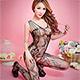 睡衣 艷麗妖姬 性感連身睡衣(黑F) AngelHoney天使霓裳 product thumbnail 1