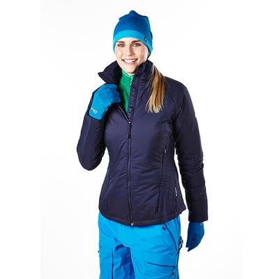 【Berghaus貝豪斯】女款溫度調節超輕高科技棉保暖連帽外套H22FQ8藍