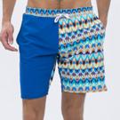 澳洲Sunseeker泳裝時尚男士快乾衝浪泳褲-幾何天藍