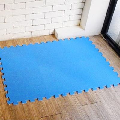 【新生活家】抗菌地墊32x32x1cm 深海藍6入