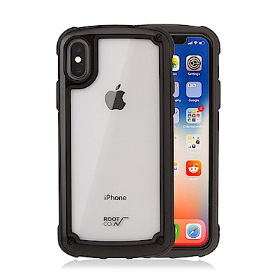 ROOT CO iPhone X Tough & Basic 抗衝擊軍規...