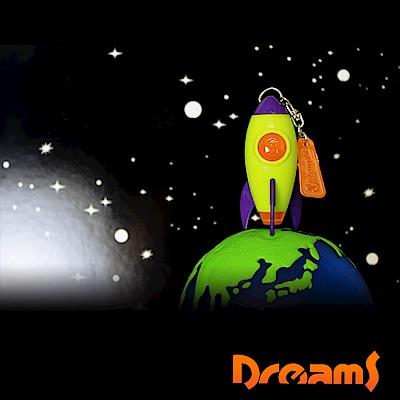 Dreams Projector Rocket 火箭怪獸投射燈鑰匙圈-綠色/火星人