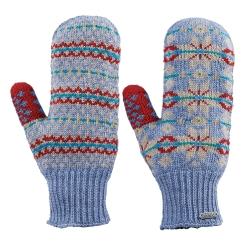 【ATUNAS 歐都納】女款無指保暖手套 A-A1405W 藍