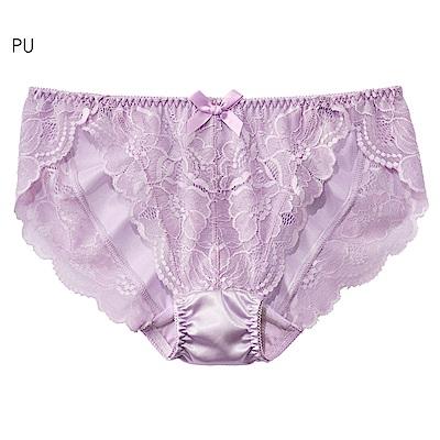 aimerfeel 淑女蕾絲交叉包覆內褲-紫色