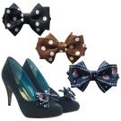 足的美形  經典蝴蝶結點點鞋飾 (1對)