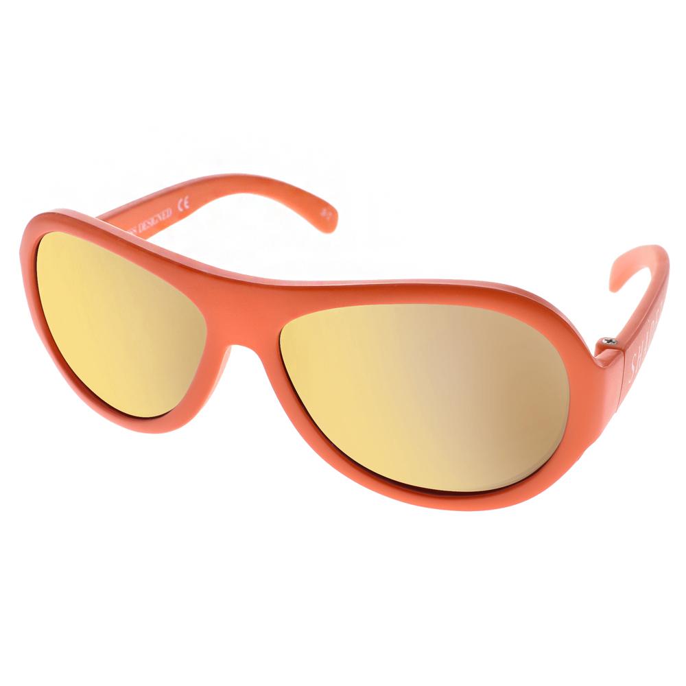 SHADEZ兒童太陽眼鏡 無毒可彎曲/橘-黃水銀#SH15SHZ3 C32