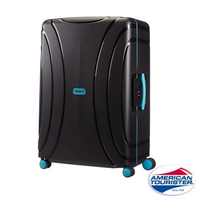 AT美國旅行者 25吋Lock N Roll PP硬殼三點式TSA鎖扣行李箱(黑)