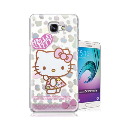三麗鷗正版 凱蒂貓 Samsung Galaxy A5 (2016)透明軟式保護...