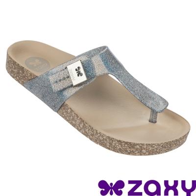Zaxy 巴西-女  FASHIONFLAT THONG FEM 夾腳拖鞋 (銀)