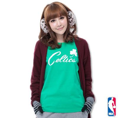 NBA-波士頓塞爾提克隊舒適短袖T恤-淺綠(女)