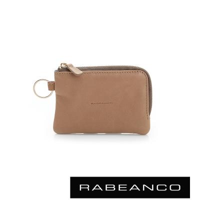 RABEANCO 經典小羊皮萬用鑰匙零錢包 – 深駝色