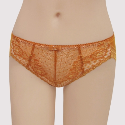 曼黛瑪璉 包覆提托V極線  低腰三角萊克內褲(炫彩橘)