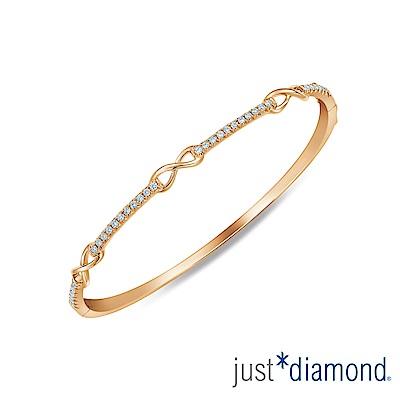 Just Diamond 玫瑰金 鑽石手環-Love Infinity