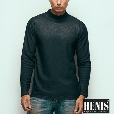 男內衣 時尚型男速暖絨仿牛仔高領保暖衣 2件組 HENIS