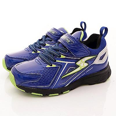 日本月星頂級童鞋 防潑水vs防滑運動鞋 EI265藍(中大童段)