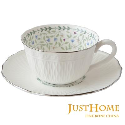 Just Home 朵莉高級骨瓷6入咖啡杯盤組(不附收納架)