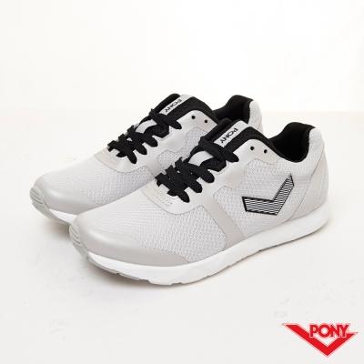 PONY-FLUFFY系列-休閒舒適慢跑鞋-灰(女)