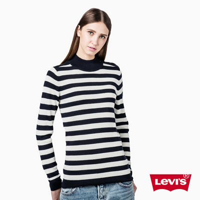 中高領羊毛毛衣-條紋-Levis