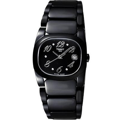 TISSOT T-Moments Black 柔情黑潮腕錶 T0091101105701