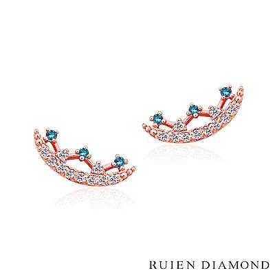 RUIEN DIAMOND 韓國輕珠寶 飾品 配件14K玫瑰金 耳環 LE086