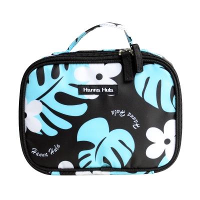 日本Hanna Hula-多用途隨身包-可裝衣物/尿片(花葉黑)