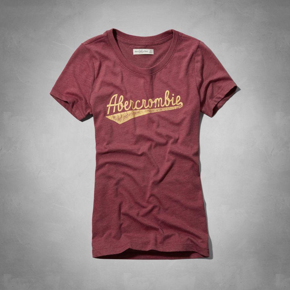 AF a&f Abercrombie & Fitch 女T恤 紅色 0015