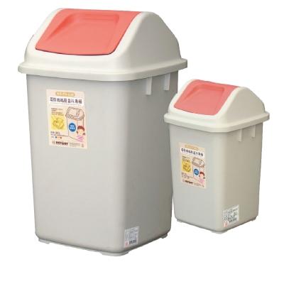 環保媽媽附蓋垃圾桶二入組(大+小)