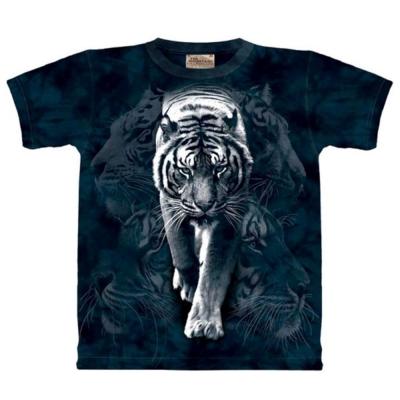 摩達客 美國進口The Mountain 白虎漫步 純棉環保短袖T恤