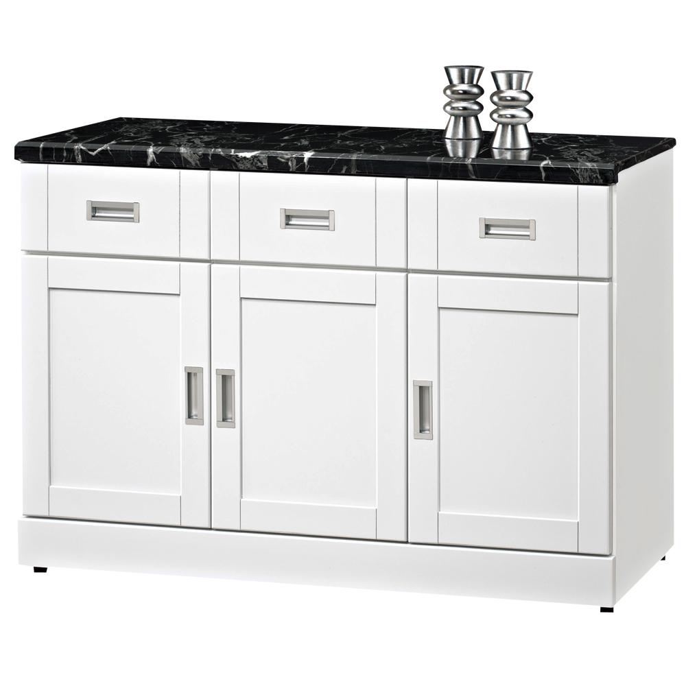 時尚屋 艾菲爾4尺石面餐櫃可選色