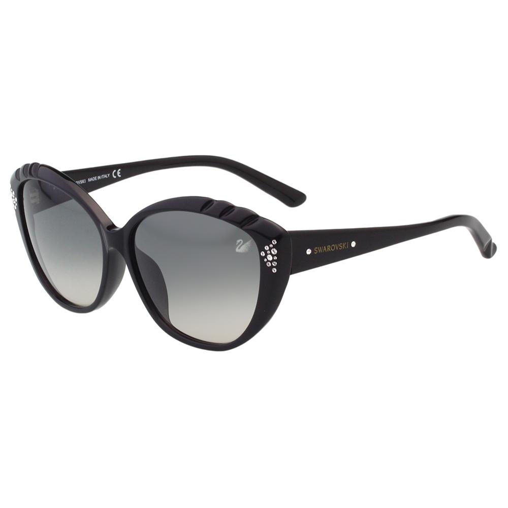 SWAROVSKI太陽眼鏡-貓眼水鑽-黑色SW9056