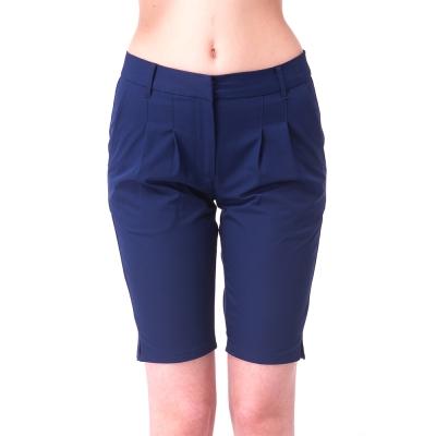 【hilltop山頂鳥】女款超潑水抗UV彈性5分褲S09F58-藍