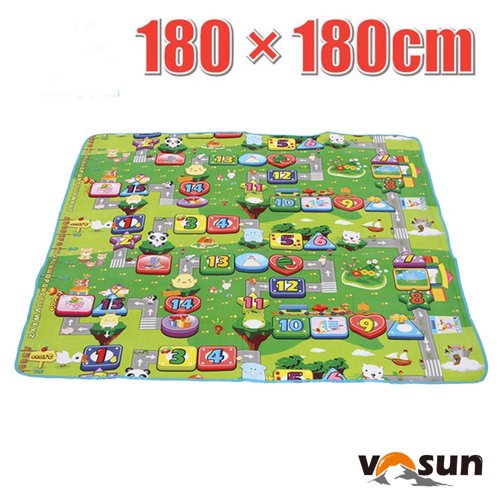 【VOSUN】童趣 多用途超大加厚防水野餐墊(180×180)_數字樂園