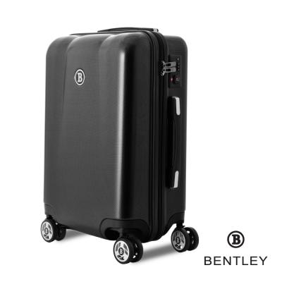 BENTLEY賓利 28吋 PC+ABS 碳纖維拉鍊款輕量行李箱 -黑
