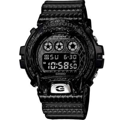 G-SHOCK 鑽石菱形紋路時尚潮流腕錶(DW-6900DS-1)-黑/50mm