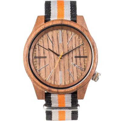 WEWOOD 義大利尼龍錶帶木頭錶 TORPEDO NUT ORANGE-45mm