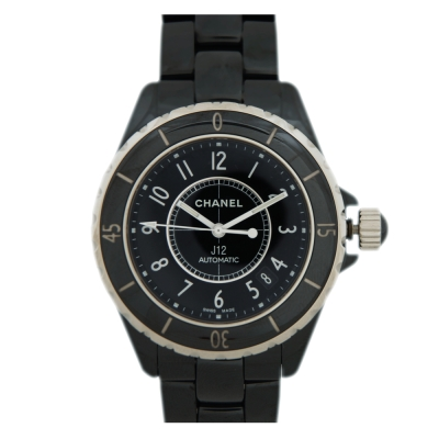CHANEL J12 H0685 陶瓷藍寶石鏡面女錶/38mm(黑)