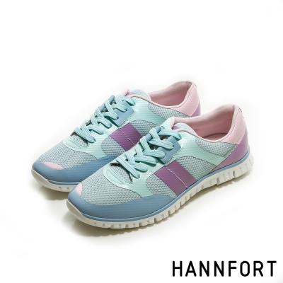 HANNFORT ZERO GRAVITY飛越史丹佛拼色氣墊鞋-女-輕透藍