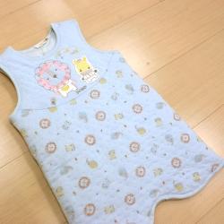 GMP BABY 冬夏兩用動物夾棉嬰兒睡袍 藍色1件
