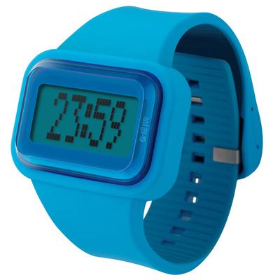 o.d.m.  Raibow 跳躍彩色人生電子錶-藍/43mmx45mm