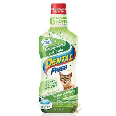 美國DENTALFRESH 貓用-潔牙液8oz