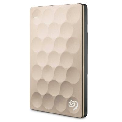 Seagate 2.5吋 2TB 行動硬碟Backup Plus Ultra Slim 極薄-金
