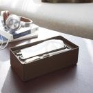 【YAMAZAKI】smart亮彩收納面紙盒-棕★衛浴/居家/飾品/萬用收納/衛生紙