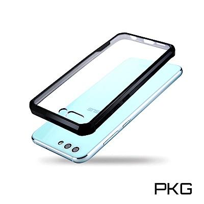 PKG  ASUS Zenfone4 ZE554KL 抗震手機防摔雙料殼-美顏背板-黑框