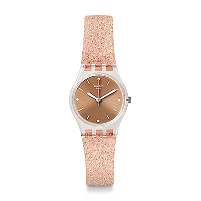 Swatch 就是SWATCH PINKINDESCENT TOO 粉色星沙手錶