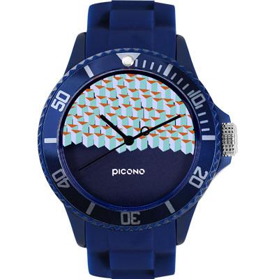 PICONO 繽紛主題 - 方塊遊樂場系列手錶 - 藍/ 40 mm