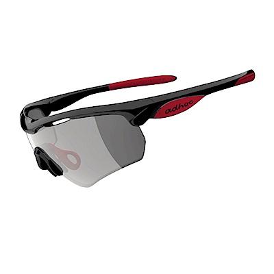 【ADHOC】運動太陽眼鏡-極速變色灰片-半框式HAWK