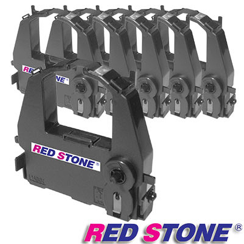 RED STONE for FUTEK DL3800/F80黑色色帶組(1組6入) product image 1
