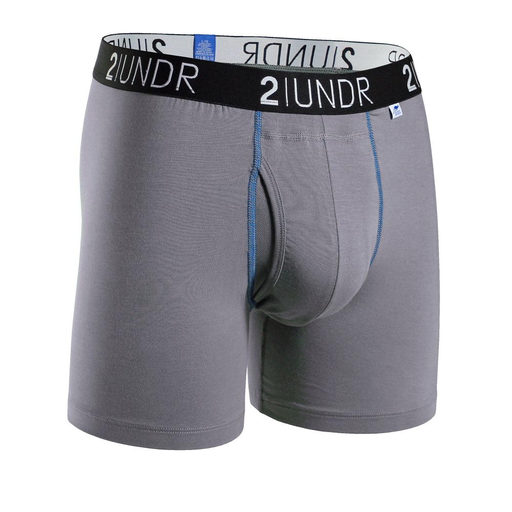 2UNDR Swing Shift 莫代爾吸排四角內褲(6吋)-灰色