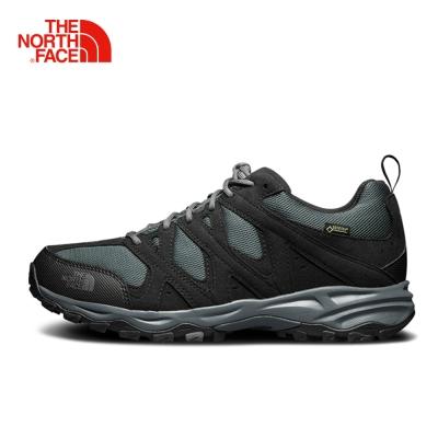 The North Face北面男款黑灰色防水透氣徒步鞋