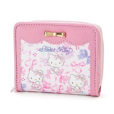 Sanrio HELLO KITTY童用可愛短皮夾(緞帶)